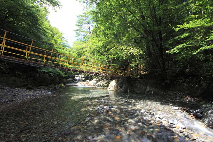川上渓谷の流れ