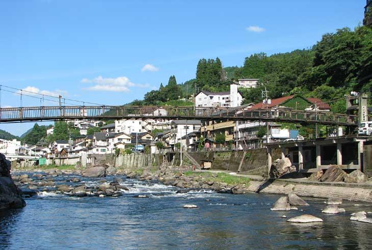 天ケ瀬温泉を流れる玖珠川