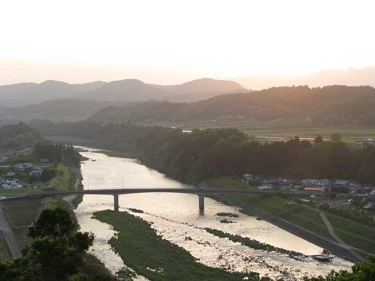 大野川の夕暮れ