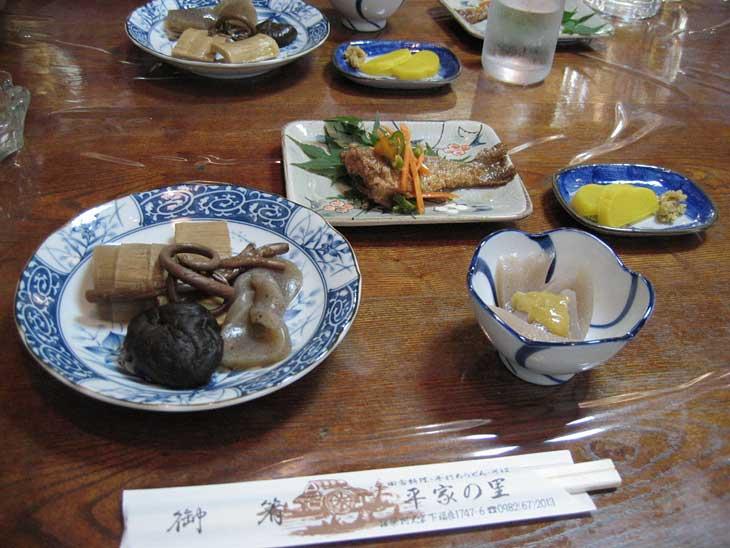 椎葉村での食事