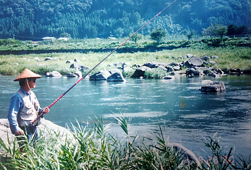 筑後川水系の鮎釣り師