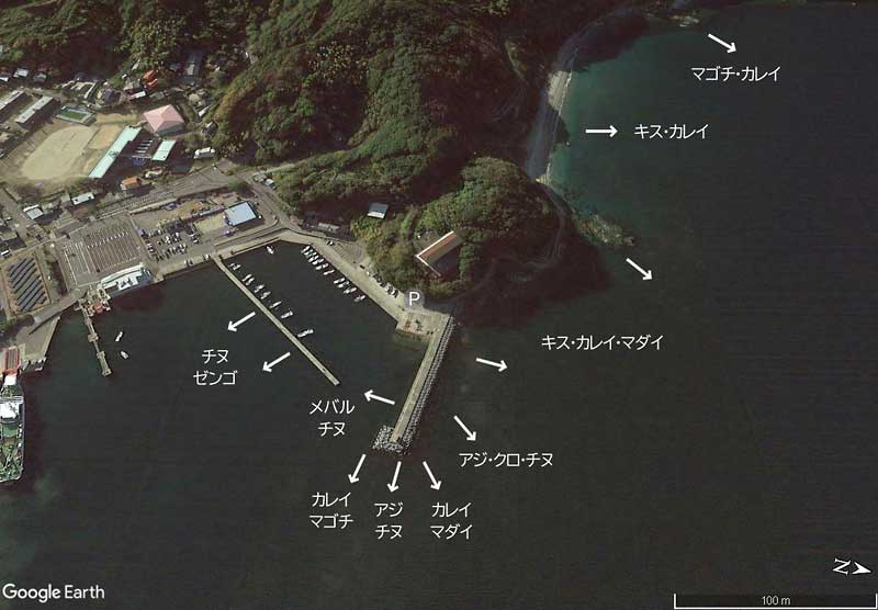 古宮漁港の釣り場