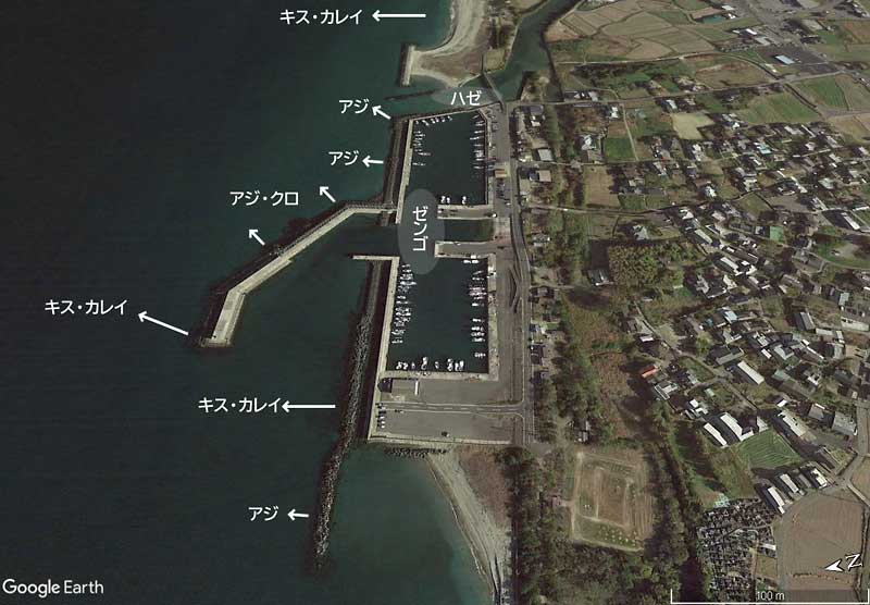 神崎漁港の釣り場