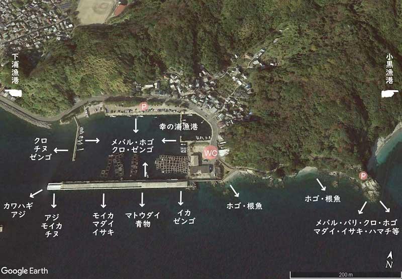 幸の浦漁港 釣り場